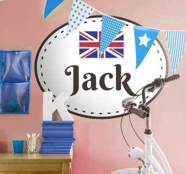 Union Jack Customisable Wall Sticker