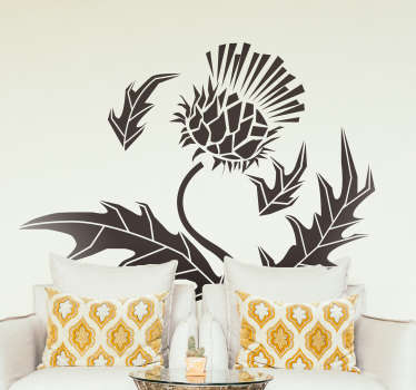 Monocolour Thistle Wall Sticker