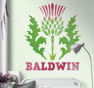 得益于这张精美的墙贴,用苏格兰蓟装饰您的墙壁!蓟总是很酷!提供50种颜色。