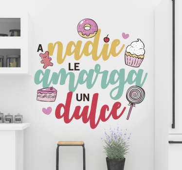 Text quote wall sticker designed with popular saying quote to decorate the home. Easy to apply and self adhesive. Available in any size.