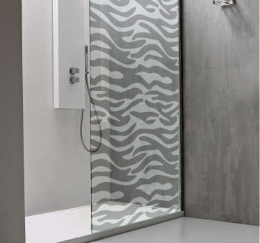 Zebra Print Shower Sticker