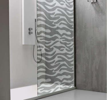Badkamer sticker douchescherm zebra print