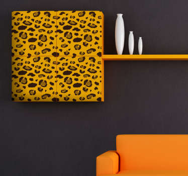 Add some leopard print to your home with this fantastic wall and furniture sticker! Easy to apply.
