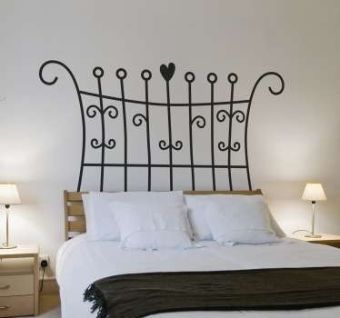 Sticker hoofdeinde bed symmetrisch