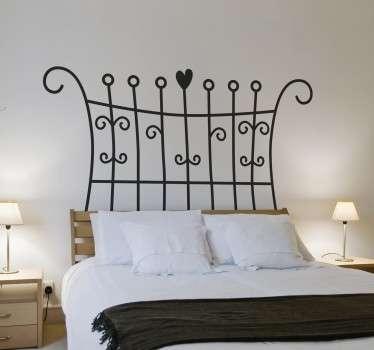 Vinil decorativo cabecereiro cama filigrana