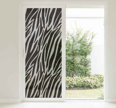 Zebra Print Window Sticker