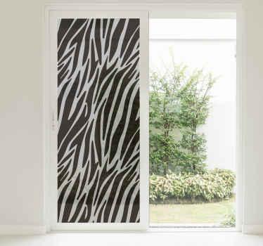 Pellicola per vetro effetto zebrato traslucido