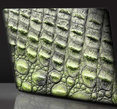 Aufkleber Tier Krokodil Leder Laptop Skin