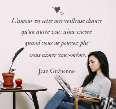 Sticker Littérature Belle Phrase Amour