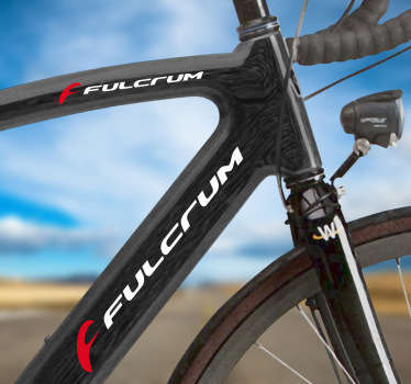 Vinilo bicicleta logo Fulcrum color