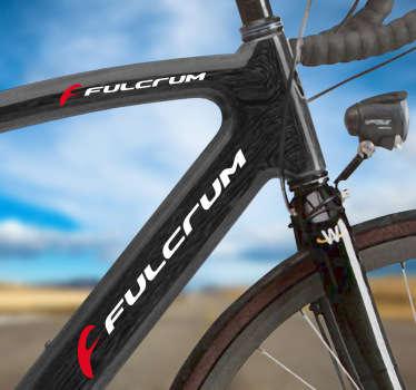Kit de pegatinas con el logo de Fulcrum en colores blanco y rojo para el cuadro de la bicicleta. Ideal para los deportistas que les gusta el mundo de la mountain bike.Adhesivos de gran calidad y resistencia. Indícanos en observaciones la combinación de colores que mejor te vaya.