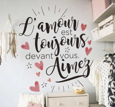 Sticker Motivation Citation Poète Amour
