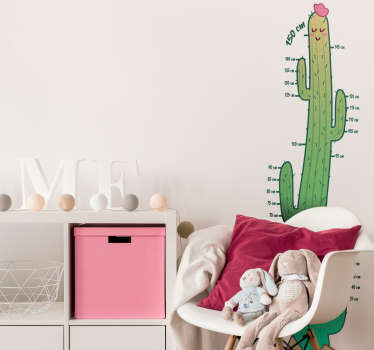 Cactus Height Chart Children´s Wall Sticker