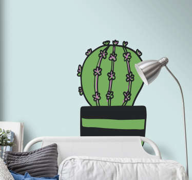 Cartoon Cactus Wall Sticker