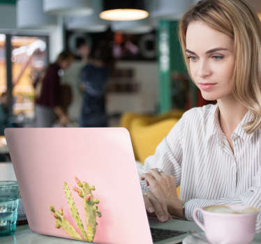 野仙人掌笔记本电脑贴纸