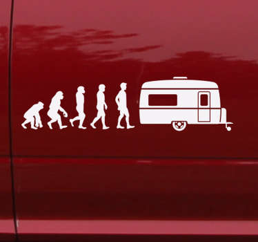Human Evolution to Caravan Sticker