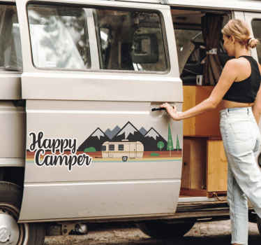 Tekst Sticker Happy Camper