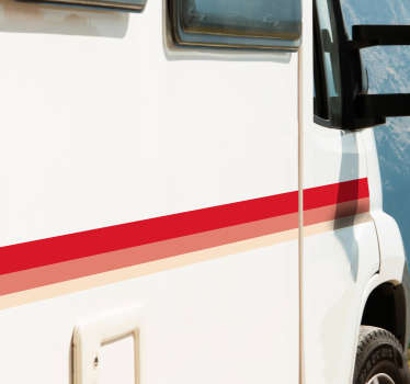 Sticker Ligne Rayures pour Caravanes