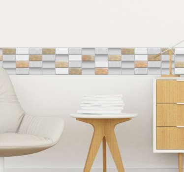 Cenefa adhesiva azulejos de piedra