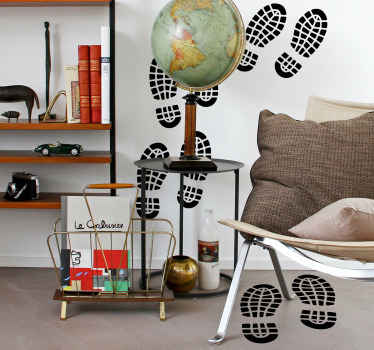 Footprints home wall sticker