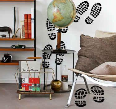Ayak izleri ev duvar sticker