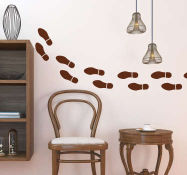 Add some footprints to your wall with this brilliantly fun wall sticker! Easy to apply.