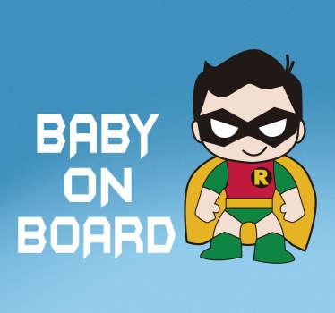 Sticker Voiture Robin Bébé à Bord