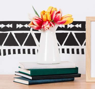 阿兹台克人边框图案客厅墙装饰