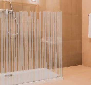 Geometriska linjer dusch linje klistermärke