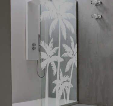 Palmtrees dusj tegning trevegg klistremerke