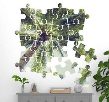 Tienerkamer muursticker puzzel met eigen foto