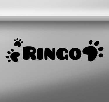Dog Name Customisable Sticker