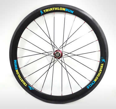 Triathlon Bike Wheel Sticker