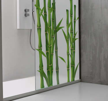 Autocolantes para chuveiro padrão de bambu