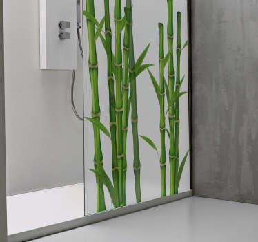 Naklejka na prysznic łodygi bambusa