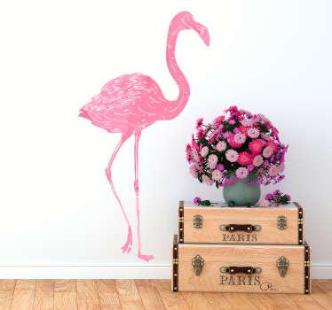 Autocolante sala de estar flamingo aguarela