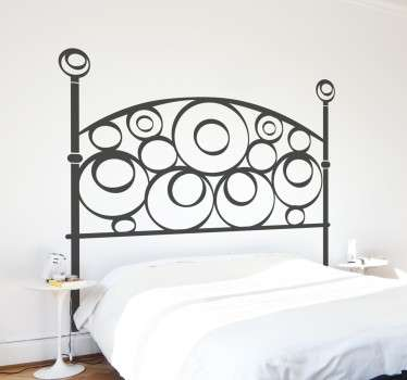 Semicircle Vinyl Headboard Sticker