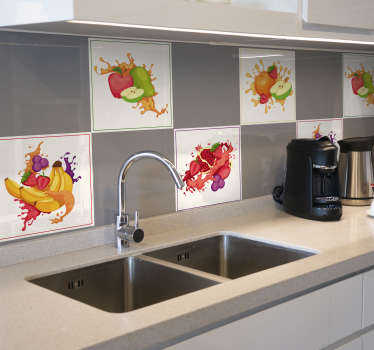 Smashed Fruit Tile Stickers