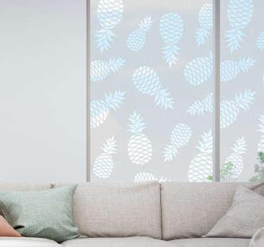 Naklejka na szkło przezroczyste ananasy