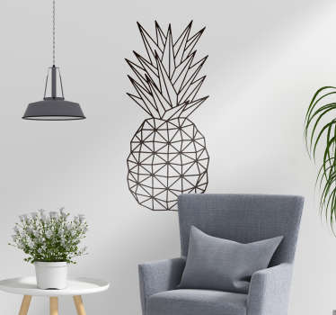 Wandtattoo Wohnzimmer Ananas geometrisch Skizze