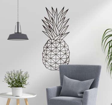 Keuken muursticker geometrische ananas