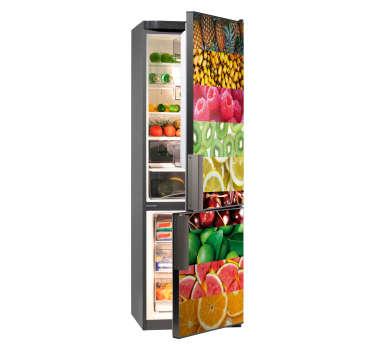 Naklejka na lodówkę różne rodzaje owoców