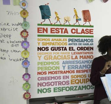 Vinilo infantil conducta escuela