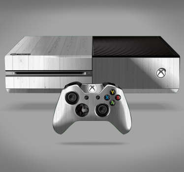 Sticker Xbox One Texture du Bois Blanc