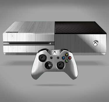White Wood Texture Xbox Sticker