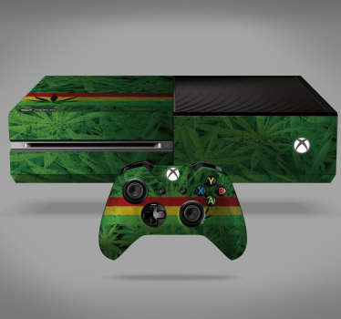 Cannabis Plant Xbox Skin Sticker