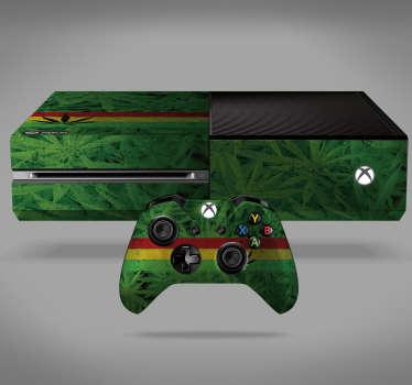 Sticker Xbox Plante Canabis Jamaïque