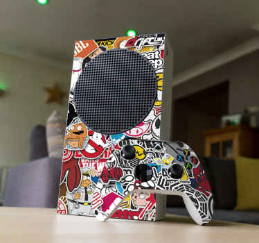 Classic Game Collage Xbox Skin Sticker