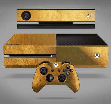 Vinilo xbox con textura oro