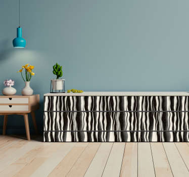 Sticker Wohnzimmer Zebra Optik Möbel